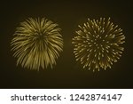beautiful gold fireworks set.... | Shutterstock . vector #1242874147