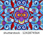 illustration in stained glass... | Shutterstock .eps vector #1242874564