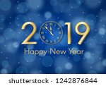 abstract gold shining new year... | Shutterstock .eps vector #1242876844