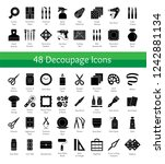 decoupage tools. bricolage  ...   Shutterstock .eps vector #1242881134