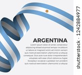 argentina flag  vector... | Shutterstock .eps vector #1242884977