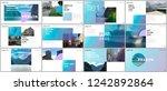 minimal presentations design ... | Shutterstock .eps vector #1242892864