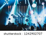 huge crowd of people with... | Shutterstock . vector #1242902707