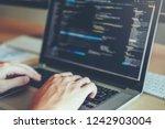 developing programmer...   Shutterstock . vector #1242903004