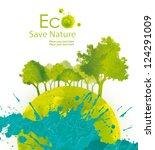 illustration environmentally... | Shutterstock . vector #124291009