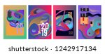 2019 new abstract poster... | Shutterstock .eps vector #1242917134