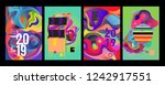 2019 new abstract poster... | Shutterstock .eps vector #1242917551