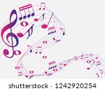 Colorful Abstract Music Notes...