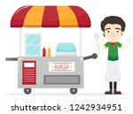 illustration of a man working... | Shutterstock .eps vector #1242934951
