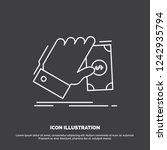 business  hand  money  earn ... | Shutterstock .eps vector #1242935794