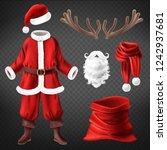 vector realistic santa claus... | Shutterstock .eps vector #1242937681