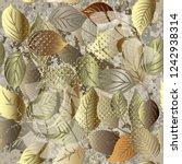 leafy modern grunge 3d vector... | Shutterstock .eps vector #1242938314