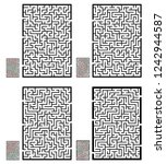 set of labyrinths  mazes... | Shutterstock .eps vector #1242944587