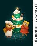Christmas Cats Illustration Art ...
