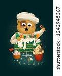 Christmas Cat Cook Cupcake...
