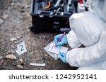 criminology expert through a... | Shutterstock . vector #1242952141