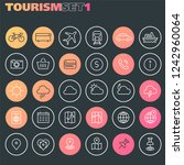 inline tourism icons collection ... | Shutterstock .eps vector #1242960064