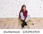 stylish portrait from gorgeous... | Shutterstock . vector #1242961924