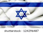 israel waving flag | Shutterstock . vector #124296487