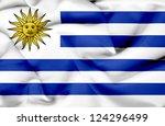 uruguay waving flag | Shutterstock . vector #124296499