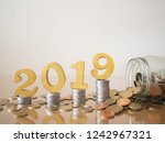 new year saving money and... | Shutterstock . vector #1242967321