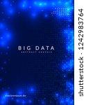 big data background. technology ... | Shutterstock .eps vector #1242983764