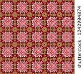 bohemian style background in...   Shutterstock .eps vector #1242984874