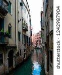 venice waterway  italy | Shutterstock . vector #1242987904