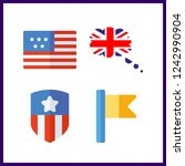 4 government icon. vector... | Shutterstock .eps vector #1242990904