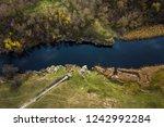 aerial  tiasmyn canyon near... | Shutterstock . vector #1242992284