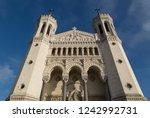 cathedral notre dame de... | Shutterstock . vector #1242992731