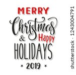 merry christmas and happy...   Shutterstock .eps vector #1243004791