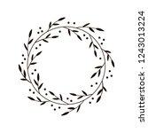 christmas joy wreath. hand... | Shutterstock .eps vector #1243013224