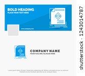 blue business logo template for ... | Shutterstock .eps vector #1243014787
