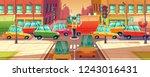 illustration of city... | Shutterstock . vector #1243016431