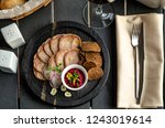 snack from the tongue with... | Shutterstock . vector #1243019614