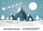 merry christmas santa claus... | Shutterstock .eps vector #1243020397
