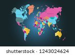 color world map vector | Shutterstock .eps vector #1243024624