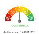 customer feedback measurement... | Shutterstock .eps vector #1243028251