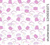 cute kids bear pattern for... | Shutterstock .eps vector #1243031071