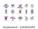 handmade colorful line logos... | Shutterstock .eps vector #1243031494