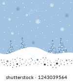 great winter landscape with... | Shutterstock .eps vector #1243039564