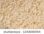 background of long rice close up | Shutterstock . vector #1243040554