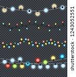 festive garlands set of... | Shutterstock . vector #1243052551