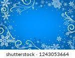 vector illustration of a blue...   Shutterstock .eps vector #1243053664