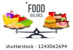 balance of healthy and...   Shutterstock .eps vector #1243062694