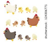 cute chicken   vector file eps10 | Shutterstock .eps vector #124306771