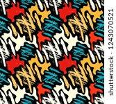 grunge colored graffiti... | Shutterstock . vector #1243070521