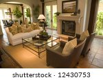 luxury home living room with a... | Shutterstock . vector #12430753