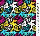 colored graffiti seamless... | Shutterstock . vector #1243080517
